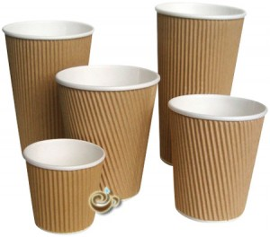 Kraft Ripple Coffee Cups & Lids